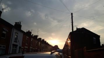 Sun rise over Appleton